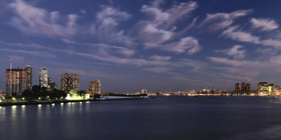 Clouds over the East River at Twilight