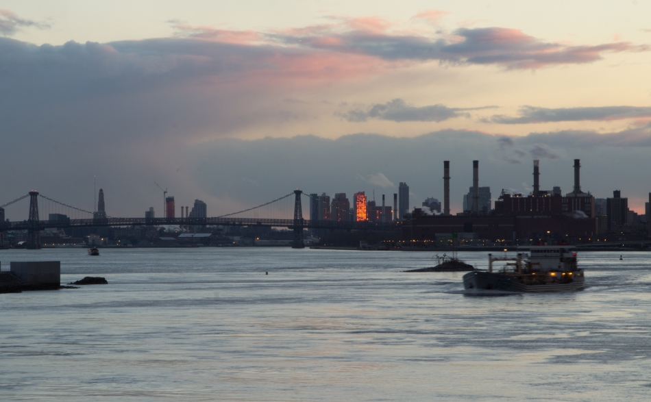 Barge Plying its East River Route