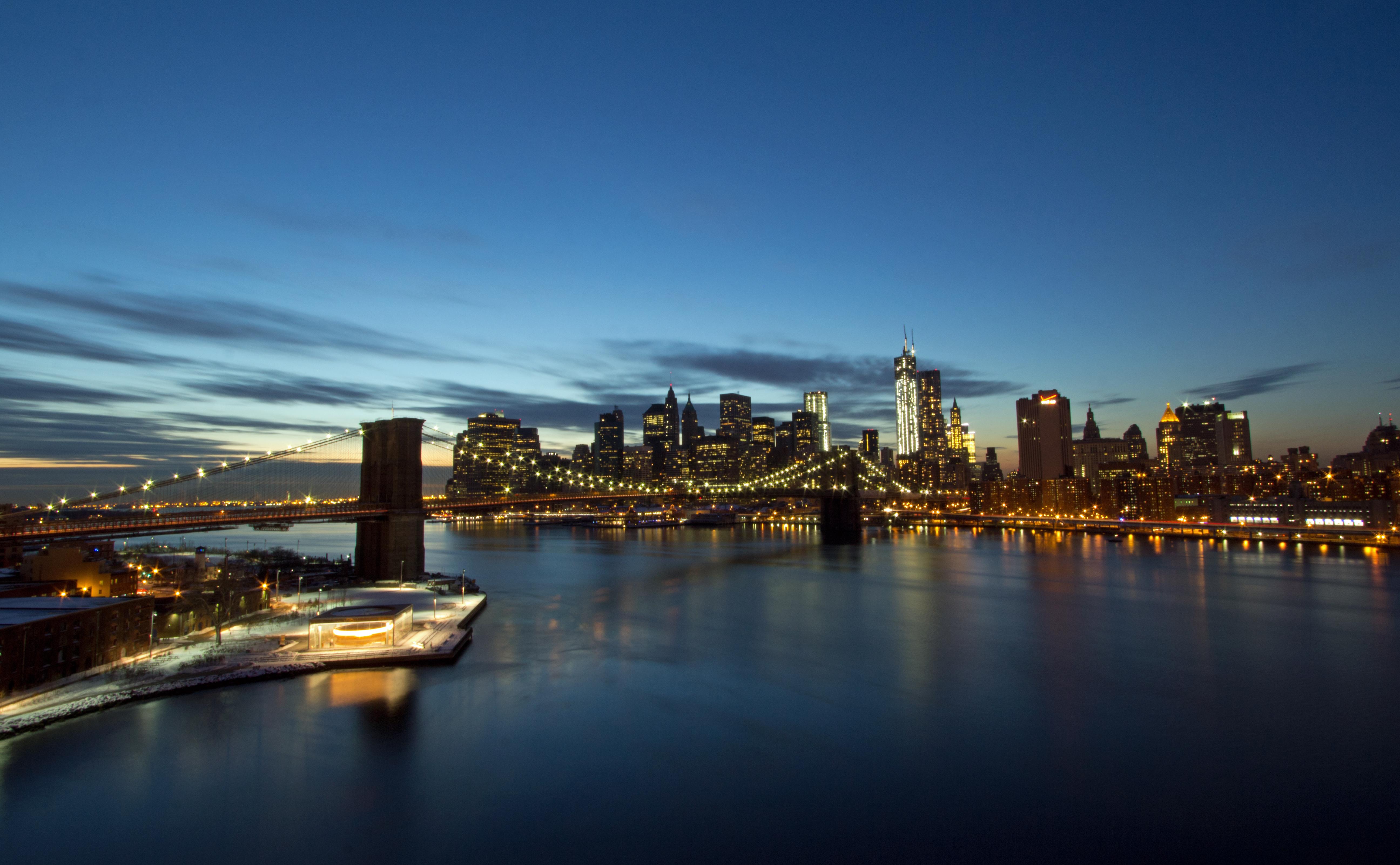 Brooklyn Bridge and Downtown Skyline at Twilight | johnnydlive