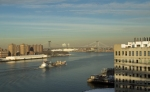 Cargo Ship Plying the East River
