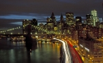 FDR Drive and Downtown at Night