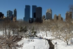 Time Warner Center with the snowy park in the foreground
