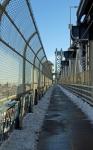 View up the Manhattan Bride Walkway