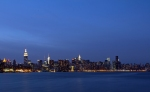 Skyline at Night from the East River Park