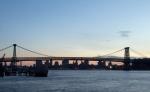 Williamsburg Bridge with Downtown at Twilight